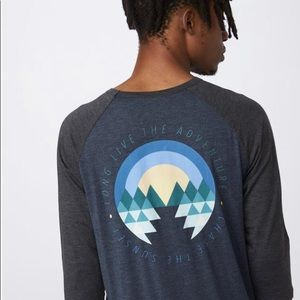 Tentree men's 1/4 sleeve T-shirt XXL NEW